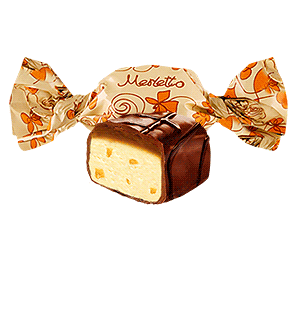 Merletto with nougat, dried apricots and caramel